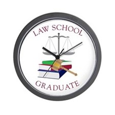 Law School Graduate Wall Clock