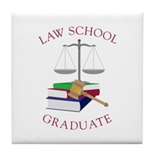 Law School Graduate Tile Coaster