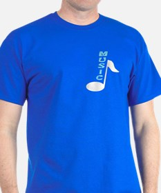 Music Note Text T-Shirt