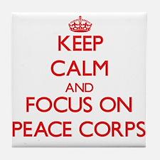 Funny Peace corps Tile Coaster