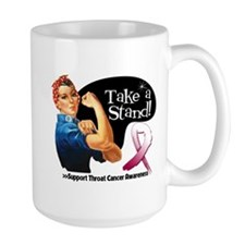 Throat Cancer Take a Stand Mugs