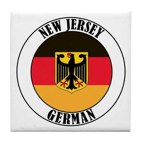 New Jersey German Tile Coaster