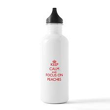 Unique I heart peaches Water Bottle