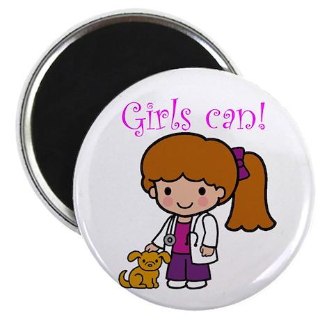 """Girl Veterinarian 2.25"""" Magnet (10 pack)"""