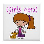 Girl Veterinarian Tile Coaster