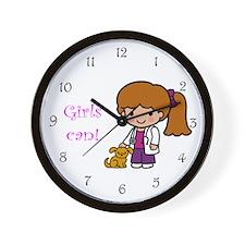 Girl Veterinarian Wall Clock