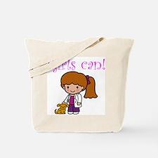 Girl Veterinarian Tote Bag