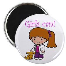 Girl Veterinarian Magnet
