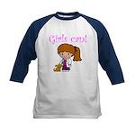 Girl Veterinarian Kids Baseball Jersey