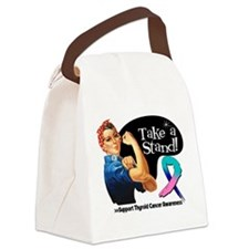 Thyroid Cancer Take a Stand Canvas Lunch Bag