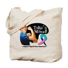 Thyroid Cancer Take a Stand Tote Bag
