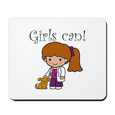Girl Veterinarian Mousepad