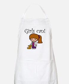 Girl Veterinarian BBQ Apron