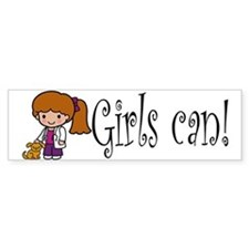 Girl Veterinarian Bumper Bumper Sticker