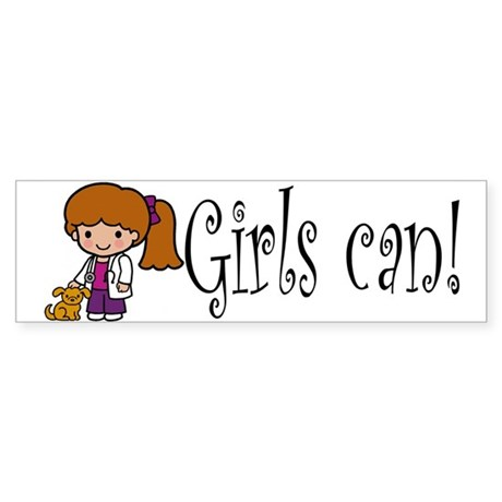 Girl Veterinarian Bumper Sticker