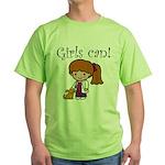Girl Veterinarian Green T-Shirt