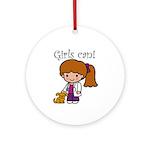 Girl Veterinarian Ornament (Round)