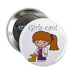 Girl Veterinarian Button