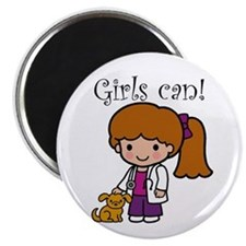 Girl Veterinarian Magnet