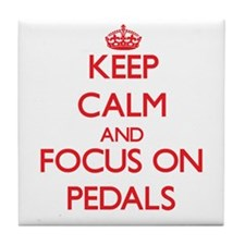 Funny Keep calm and pedal Tile Coaster