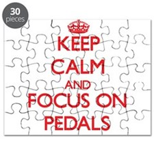 Funny Keep calm and pedal Puzzle