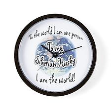 Husky World2 Wall Clock