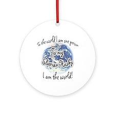 Husky World2 Ornament (Round)