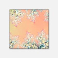 """Peach Spring Frost on Flowe Square Sticker 3"""" x 3"""""""
