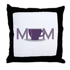 Moms Tea Throw Pillow
