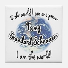 Schnauzer World2 Tile Coaster
