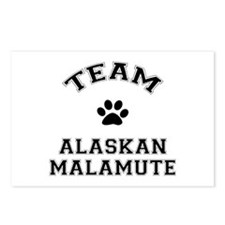 Team Alaskan Malamute Postcards (Package of 8)