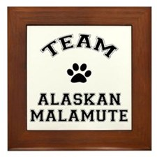 Team Alaskan Malamute Framed Tile
