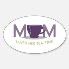 Mom Loves Her Tea Time Decal
