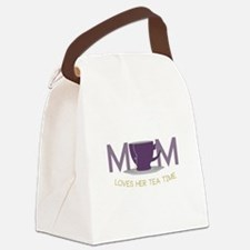 Mom Loves Her Tea Time Canvas Lunch Bag