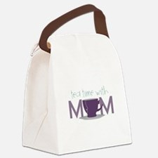 Tea Time With Mom Canvas Lunch Bag