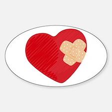 Heart Bandage Bumper Stickers