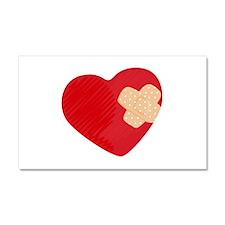 Heart Bandage Car Magnet 20 x 12