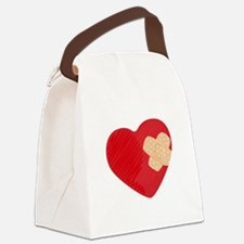 Heart Bandage Canvas Lunch Bag
