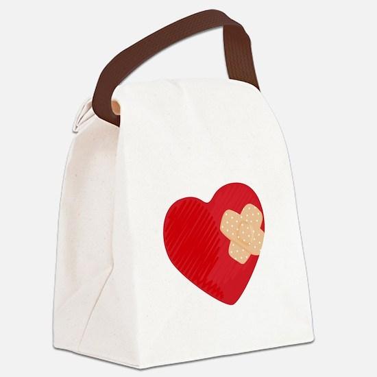 Heart Bandage Canvas Lunch Bag