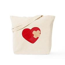 Heart Bandage Tote Bag