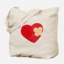 Heart Bandage Tote Bag