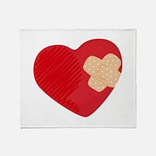 Heart Bandage Throw Blanket