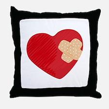 Heart Bandage Throw Pillow
