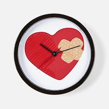 Heart Bandage Wall Clock