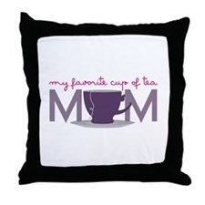 My Favorite Cup Of Tea Throw Pillow