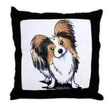 Tricolor Papillon Throw Pillow