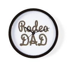 Rodeo Dad Roping Cowboy Wall Clock