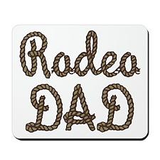 Rodeo Dad Roping Cowboy Mousepad
