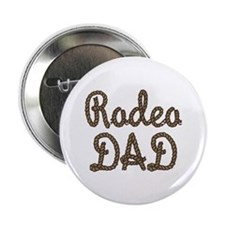 Rodeo Dad Roping Cowboy Button