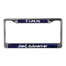 Funky Love Giant Schnauzer License Plate Frame